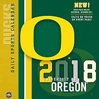 Oregon Ducks 2018 Daily Box Calendar