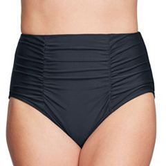 Women's Mazu Swim Ruched High-Waisted Bikini Bottoms