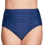 Women's Mazu Swim Ruched High-Waisted Bikini Bottoms