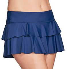 Women's Mazu Swim Double Ruffle Skirtini Bottoms
