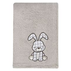 Trend Lab Plaid Bunny Applique Baby Blanket