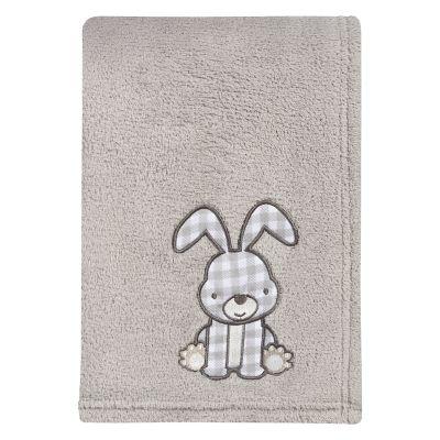 Trend Lab Plaid Bunny Applique Baby Blanket