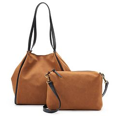 SONOMA Goods for Life™ Tyler Faux-Leather Tote & Crossbody Bag Set