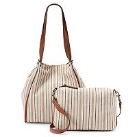 SONOMA Goods for Life™ Tyler Striped Tote & Crossbody Bag Set