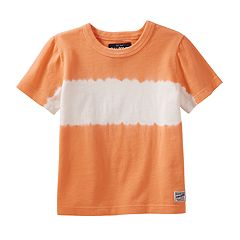 Toddler Boy OshKosh B'gosh® Orange Striped Tie-Dyed Tee