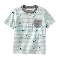 Toddler Boy OshKosh B'gosh® Stripes & Sharks Pocket Henley Top