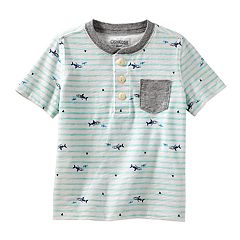 Toddler Boy OshKosh B'gosh® Stripes & Sharks Pocket Henley Top