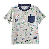 Toddler Boy OshKosh B'gosh® Beach & Palm Tree Pocket Henley Top