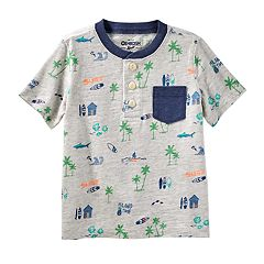 Toddler Boy OshKosh B'gosh® Beach & Palm Tree Pocket Henley Top