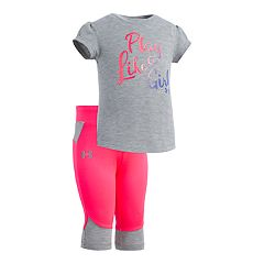 Baby Girl Under Armour 'Play Like A Girl' Graphic Tee & Capri Leggings Set