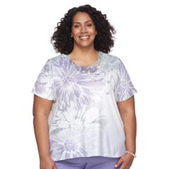 Plus Size Alfred Dunner Studio Floral Embellished Top