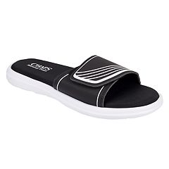 Men's Chaps Striped Slide-On Sandals