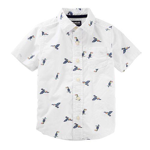 50b168455 Toddler Boy OshKosh B'gosh® Birds Button Down Shirt
