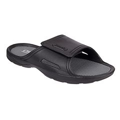 Men's Chaps Perforated Slide-On Sandals