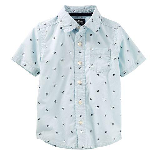 a66251a97 Toddler Boy OshKosh B'gosh® Nautical Anchor Button Down Shirt