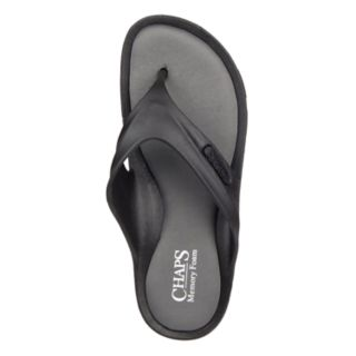 Men's Chaps Memory Foam Molded Thong Sandals