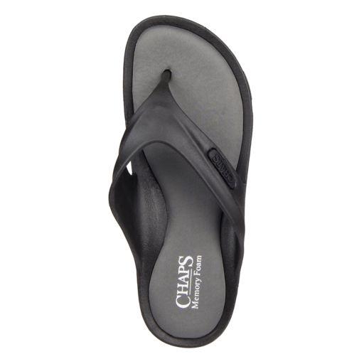 Men's Chaps Memory Foam Molded Thong Sandals