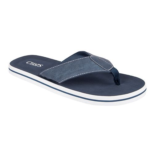 Men's Chaps Chambray Thong Sandals