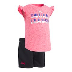 Baby Girl Under Armour 'Squad Leader' Graphic Tee & Shorts Set
