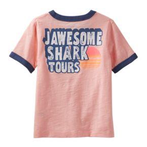 """Toddler Boy OshKosh B'gosh® """"Jawesome Shark Tours"""" Shark Pocket Tee"""