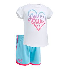 Baby Girl Under Armour 'Love To Win' Graphic Tee & Shorts Set