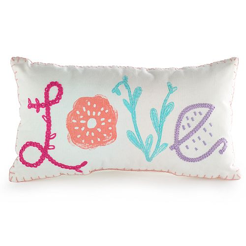 """SONOMA Goods for Life™ Kids """"Love"""" Embroidered Throw Pillow"""