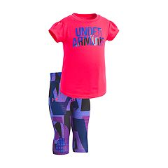 Baby Girl Under Armour Graphic Tee & Capri Leggings Set