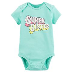 Baby Girl Carter's 'Super Sister' Graphic Bodysuit