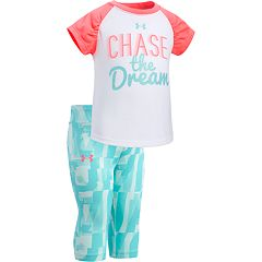 Baby Girl Under Armour 'Chase The Dream' Graphic Tee & Capri Leggings Set