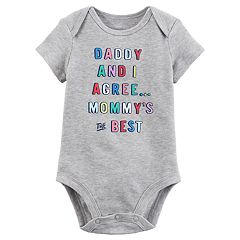 Baby Girl Carter's 'Daddy and I Agree Mommy Is The Best' Graphic Bodysuit
