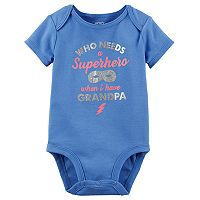 Baby Girl Carter's Glittery Graphic Bodysuit