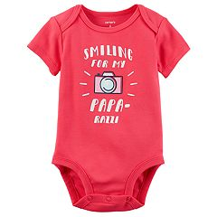 Baby Girl Carter's 'Smiling For My Papa-Razzi' Graphic Bodysuit