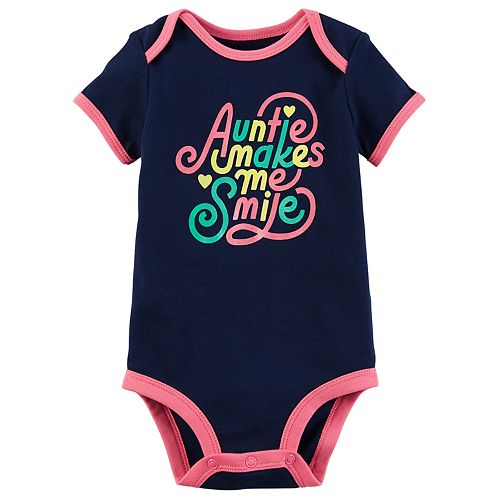 """Baby Girl Carter's """"Auntie Makes Me Smile"""" Graphic Bodysuit"""