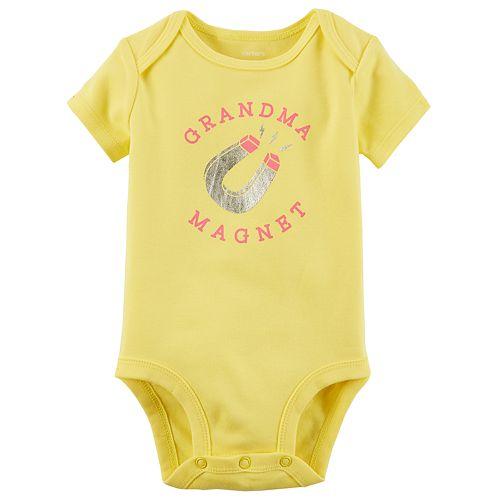 """Baby Girl Carter's """"Grandma Magnet"""" Bodysuit"""