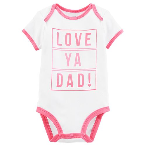 "Baby Girl Carter's ""Love Ya Dad!"" Graphic Bodysuit"