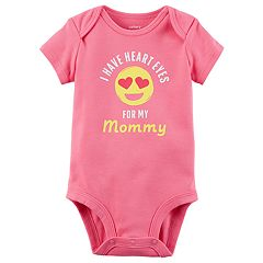 Baby Girl Carter's 'I Have Heart Eyes For My Mommy' Graphic Bodysuit