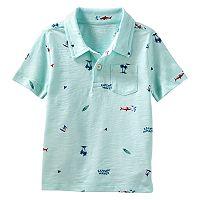 Toddler Boy OshKosh B'gosh® Beach & Waves Pocket Polo