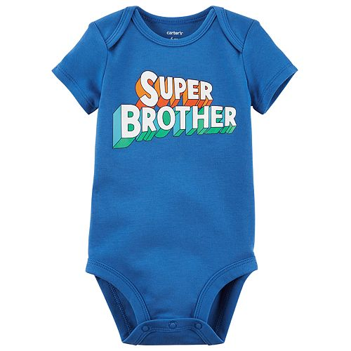 """Baby Boy Carter's """"Super Brother"""" Graphic Bodysuit"""