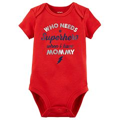 Baby Boy Carter's 'Who Needs A Superhero When I Have Mommy' Graphic Bodysuit