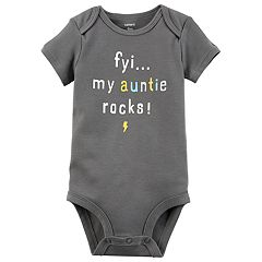 Baby Boy Carter's 'FYI...My Auntie Rocks' Graphic Bodysuit