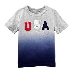 Toddler Boy OshKosh B'gosh® 'USA' Dip Dyed Top