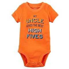 Baby Boy Carter's 'My Uncle Gives the Best High Fives' Graphic Bodysuit