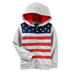 Toddler Boy OshKosh B'gosh® Flag Zip Hoodie