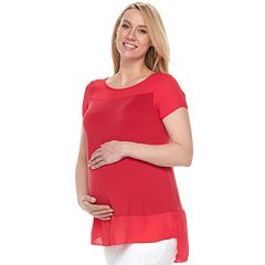 Maternity a:glow Georgette Trim Tee