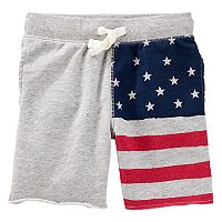 Toddler Boy OshKosh B'gosh® American Flag Knit Shorts