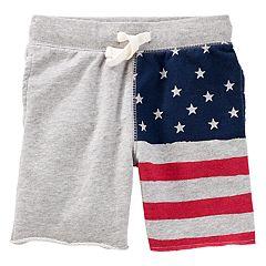Toddler Boy OshKosh B'gosh® American Flag Knit Shorts