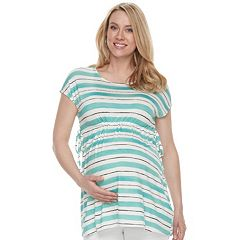 Maternity a:glow Empire Striped Tee