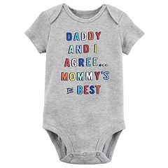 Baby Boy Carter's 'Daddy and I Agree, Mommy's the Best' Graphic Bodysuit