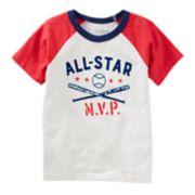 "Toddler Boy OshKosh B'gosh® ""All-Star MVP"" Baseball Raglan Tee"