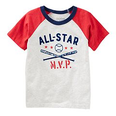 Toddler Boy OshKosh B'gosh® 'All-Star MVP' Baseball Raglan Tee